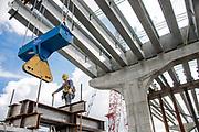 Florida Industrial Photographer Thomas Winter photographs workers building a Florida Bridge