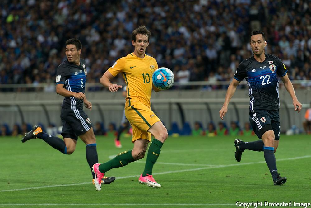 Football Soccer - Japan v Australia - World Cup 2018 Qualifier - Saitama Stadium 2002, Saitama, Japan - 31/08/17.  Australia's Robbie Kruse in action. 31/08/2017-Saitama, JAPAN