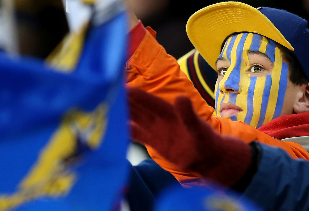 Highlanders supporter at the quarter final Super 15 rugby match between the Highlanders and Chiefs, Forsyth Barr Stadium, Dunedin, New Zealand, Saturday, June 20, 2015. Credit: SNPA/Dianne Manson