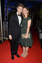 TV & radio presenter MATT EDMONDSON and his wife BRYONY at Battersea Dogs & Cats Home's Collars & Coats Gala Ball held at Battersea Evolution, Battersea Park, London on30th October 2014.