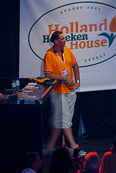 Ron Zwerver during honoring of the gold and silver medal in the Holland Heineken House for Anky van Grunsven and Theo Bos on August 25, 2004 in Olympic Stadion Spyridon Louis, Athens.