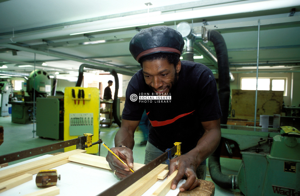 GNVQ carpentry student at further education college; UK