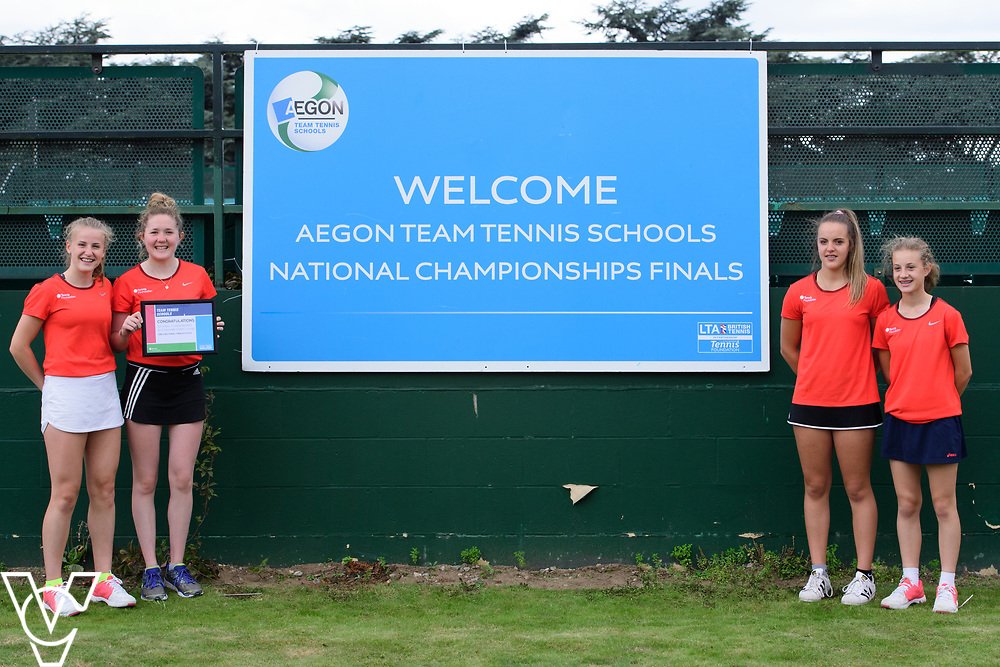Berkamstead School<br /> <br /> Team Tennis Schools National Championships Finals 2017 held at Nottingham Tennis Centre.  <br /> <br /> Picture: Chris Vaughan Photography for the LTA<br /> Date: July 14, 2017
