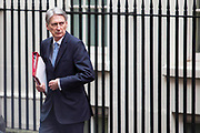 UNITED KINGDOM, London: 22 March 2017 Chancellor of the Exchequer Philip Hammond walks out of 10 Downing Street this morning. Rick Findler / Story Picture Agency
