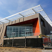 WASHINGTON, DC - SEP9: The exterior of the Woodridge Public Library, including an outdoor deck and roof deck and garden, is the latest library to reopen in D.C. with an innovative design, September 9, 2016. (Photo by Evelyn Hockstein/For The Washington Post)