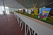 """documenta12. Orangerie. Aue-Pavillions by Lacaton & Vassal. Ines Doujak, """"Siegesgaerten"""" 2007."""