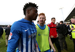Devante Rodney of Hartlepool United looks dejected after his side are relegated out of Sky Bet League Two and out of The EFL  - Mandatory by-line: Robbie Stephenson/JMP - 06/05/2017 - FOOTBALL - The Northern Gas and Power Stadium (Victoria Park) - Hartlepool, England - Hartlepool United v Doncaster Rovers - Sky Bet League Two