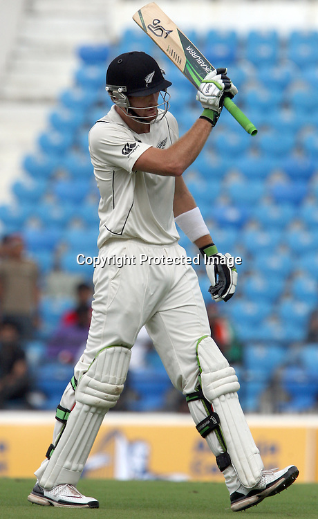 New Zealand batsman Martin Guptill go back pavilion after dismissing by S. Sreesanth during 3rd test match India vs New Zealand  Played at Vidarbha Cricket Association Stadium, Jamtha, Nagpur, 20, November 2010 (5-day match)