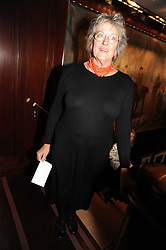 GERMAINE GREER at a party to celebrate the publication of Catherine Blyth's book 'The Art of Conversation' held at Ralp Lauren, Bond Street, London on 4th November 2008.
