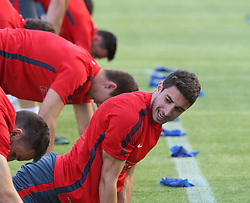 11.06.2015, Stadion Poljud, Split, CRO, UEFA Euro 2016 Qualifikation, Kroatien vs Italien, Gruppe H, Training Kroatien, im Bild Sime Vrsaljko // during trainig of Team Croatia prior to the UEFA EURO 2016 qualifier group H match between Croatia and and Italy at the Stadion Poljud in Split, Croatia on 2015/06/11. EXPA Pictures © 2015, PhotoCredit: EXPA/ Pixsell/ Ivo Cagalj<br /> <br /> *****ATTENTION - for AUT, SLO, SUI, SWE, ITA, FRA only*****