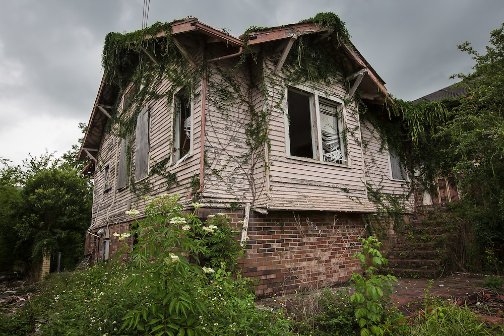 June 13, 2015, New Orleans, LA, Blighted home in the lower Garden district. <br /> Properties destroyed by Hurricane Katrina, remain scattered around New Orleans nearly ten years after the storm.