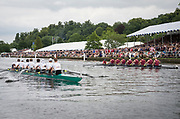 "Henley Royal Regatta, Henley on Thames, Oxfordshire, 28 June - 2 July 2017.  Saturday  15:07:03   01/07/2017  [Mandatory Credit/Intersport Images]<br /> <br /> Rowing, Henley Reach, Henley Royal Regatta.<br /> <br /> The Grand Challenge Cup<br />  Waiariki Rowing Club, New Zealand v  Passauer Ruderverein von 1874 e.V. and Ruderverein ""Treviris"" Trier von 1921, Germany"