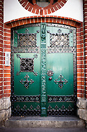 Door of a church in Moabit, Berlin, Germany