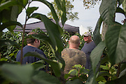 Mason Chambers, the owner of Five Springs Farm in Athens, Ohio, answers questions about and gives tips on how to grow pawpaw trees to attendees of the Pawpaw Festival at Lake Snowden on Sept. 16, 2016.