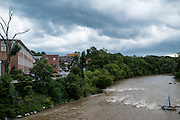 The HAw River and the Rivermill Lofts in Saxapahaw, NC.