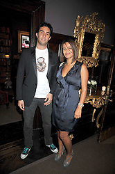 SAL LAHOUD and EMILY ROSE at the relaunch party of No.11 - the hotel and Private members club, 11 Cadogan Gardens, London on 4th June 2009.