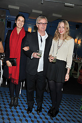 Left to right, LEILA ANSARI, MARC RODDAM and his daughter ITHAKA RODDAM at a Mexican Feast cooked by Thomasina Miers in aid of the charity Too Many Women held at Wahaca Soho, 80 Wardour Street, London on 9th November 2011.