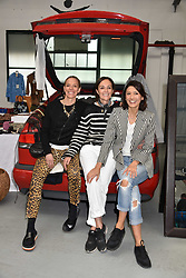 Left to right, Tiphaine De Lussy, Daniela Agnelli and Hikari Yokoyama at the #SheInspiesMe Car Boot Sale in aid of Women for Women International held Brewer Street Car Park, Soho, London England. 6 May 2017.<br /> Photo by Dominic O'Neill/SilverHub 0203 174 1069 sales@silverhubmedia.com