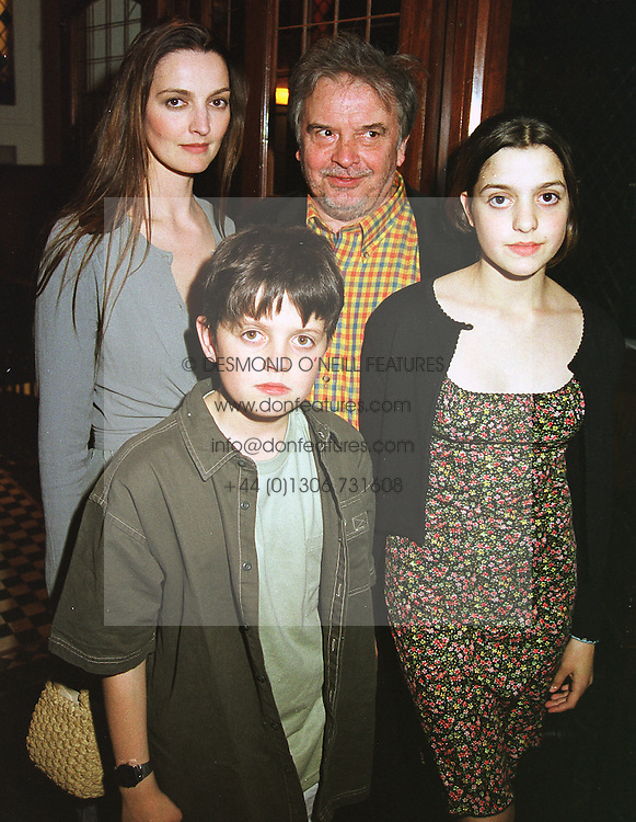 MR & MRS DAVID BAILEY and their children PALOMA and FENTON, at a party in London on 14th April 1999.MRB 9
