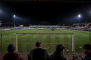 View of the Crown Ground immediately prior to the Sky Bet League 2 match between Accrington Stanley and Hartlepool United at the Fraser Eagle Stadium, Accrington, England on 19 January 2016. Photo by Mark P Doherty.