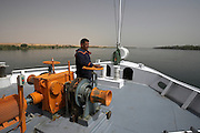 Deck hand on Nile River cruise ship, Egypt