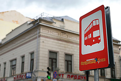 23rd June 2017 - FIFA Confederations Cup - A sign at the bus stop for the City Sightseeing tour - Photo: Simon Stacpoole / Offside.
