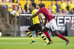 19.10.2013, Signal Iduna Park, Dortmund, GER, 1. FBL, Borussia Dortmund vs Hannover 96, 9. Runde, im Bild Zweikampf zwischen Nuri Sahin (#18 Dortmund), Salif Sane (#5 Hannover)  // during the German Bundesliga 9th round match between Borussia Dortmund and Hannover 96 Signal Iduna Park in Dortmund, Germany on 2013/10/19. EXPA Pictures &copy; 2013, PhotoCredit: EXPA/ Eibner-Pressefoto/ Kurth<br /> <br /> *****ATTENTION - OUT of GER*****