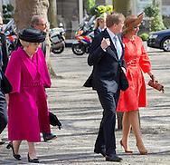 Middelburg, 21-04-2016<br /> <br /> King Willem-Alexander and Queen Maxima, Princess Beatrix, Prime Minister Mark Rutte and Bundes Chancellor Angela Merkel attend te Four Freedoms Award Ceremony at the Abbey  of Middelburg. <br /> <br /> ROYALPORTRAITS EUROPE BERNARD RUEBSAMEN