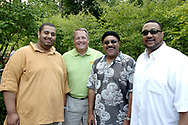 (from left) Crescendo Baccus, Kevin Jones, Gil Gaddis and Chris Bowman during the 21st annual The Taste in the Lincoln Park Commons area at the Fraze Pavilion, Thursday, September 3, 2009.  Jones says he's enjoyed the music of the Chris Bowman Trio for over 20 years.