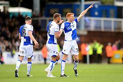 Rory Gaffney of Bristol Rovers celebrates scoring a goal with Lee Brown - Mandatory by-line: Dougie Allward/JMP - 30/09/2017 - FOOTBALL - Memorial Stadium - Bristol, England - Bristol Rovers v Plymouth Argyle - Sky Bet League One