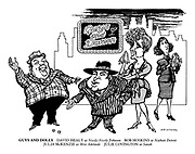 Guys and Dolls. David Healy as Nicely-Nicely Johnson, Bob Hoskins as Nathan Detroit, Julia McKenzie as Miss Adelaide, Julie Covington as Sarah