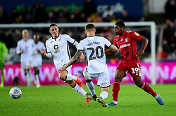 Ivan Cavaleiro of Fulham is challenged by Ben Wilmot of Swansea City - Mandatory by-line: Ryan Hiscott/JMP - 29/11/2019 - FOOTBALL - Liberty Stadium - Swansea, England - Swansea City v Fulham - Sky Bet Championship
