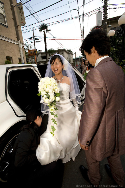 Megumi Segoshi on her way to her weading ceremony