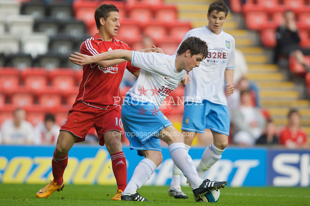 LIVERPOOL, ENGLAND - Wednesday, May 7, 2008: Liverpool's Krisztian Nemeth in action against Aston Villa during the play-off final of the FA Premier League Reserve League at Anfield. (Photo by David Rawcliffe/Propaganda)