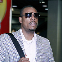 07 June 2012:  Boston Celtics small forward Paul Pierce (34) arrives at the TD Garden for Game 6 of the Eastern Conference Finals playoff series, at the TD Banknorth Garden, Boston, Massachusetts, USA.
