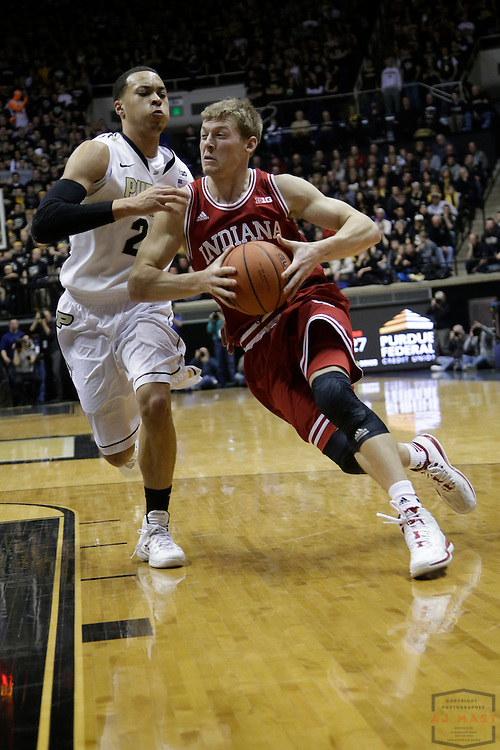 15 February 2014: Indiana Forward Austin Etherington (13) as the Indiana Hoosiers played the Purdue Boilermakers in a college basketball game in West Lafayette, Ind.