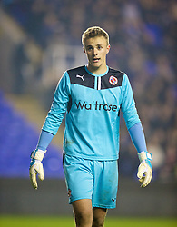 READING, ENGLAND - Wednesday, March 12, 2014: Reading's goalkeeper Lewis Ward in action against Liverpool during the FA Youth Cup Quarter-Final match at the Madejski Stadium. (Pic by David Rawcliffe/Propaganda)