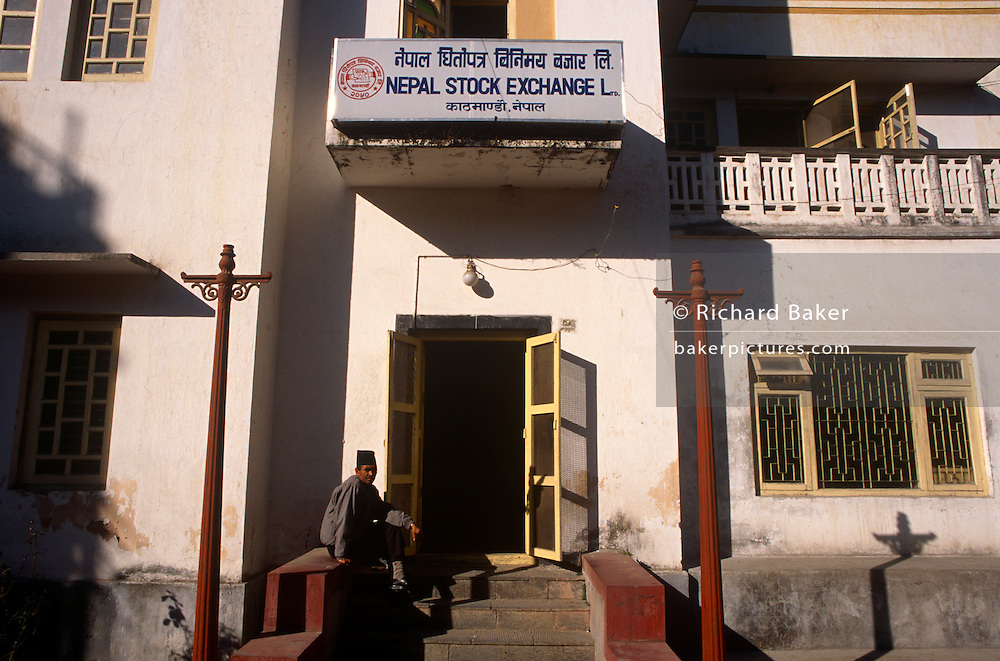 Exterior of the Kathmandu Stock Exchange, Nepal in 1997.