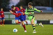 Forest Green Rovers Christian Doidge(9) runs forward during the Vanarama National League match between Forest Green Rovers and Aldershot Town at the New Lawn, Forest Green, United Kingdom on 5 November 2016. Photo by Shane Healey.