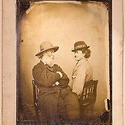 Aged by war, Whitman posed in 1869 with his companion Peter Doyle, an ex-rebel trolley driver in Washington, D.C.