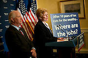 Sep 15, 2010 - Washington, District of Columbia, U.S.,  Senator DEBBIE STABENOW, (D-Mich) and Senator BEN CARDIN, (D-Md.) hold a news conference discussing Republican threats to raise taxes on middle-class families and small businesses.(Credit Image: © Pete Marovich/ZUMA Press)