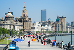 Historic buildings along The Bund in Shanghai China
