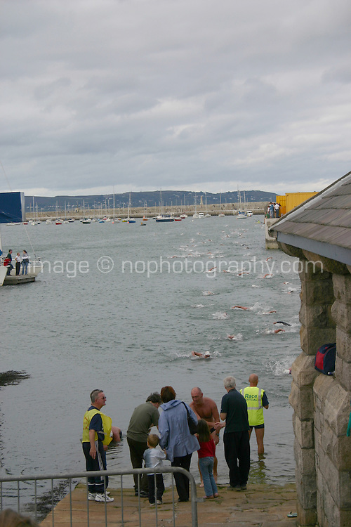 Dun Laoghaire Harbour swim competition<br />