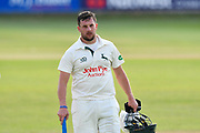 Steven Mullaney of Nottinghamshire walks of the pitch at the end of play after a 112 run not out opening partnership with Jake Libby of Nottinghamshire in the second innings during the Specsavers County Champ Div 1 match between Somerset County Cricket Club and Nottinghamshire County Cricket Club at the Cooper Associates County Ground, Taunton, United Kingdom on 10 June 2018. Picture by Graham Hunt.
