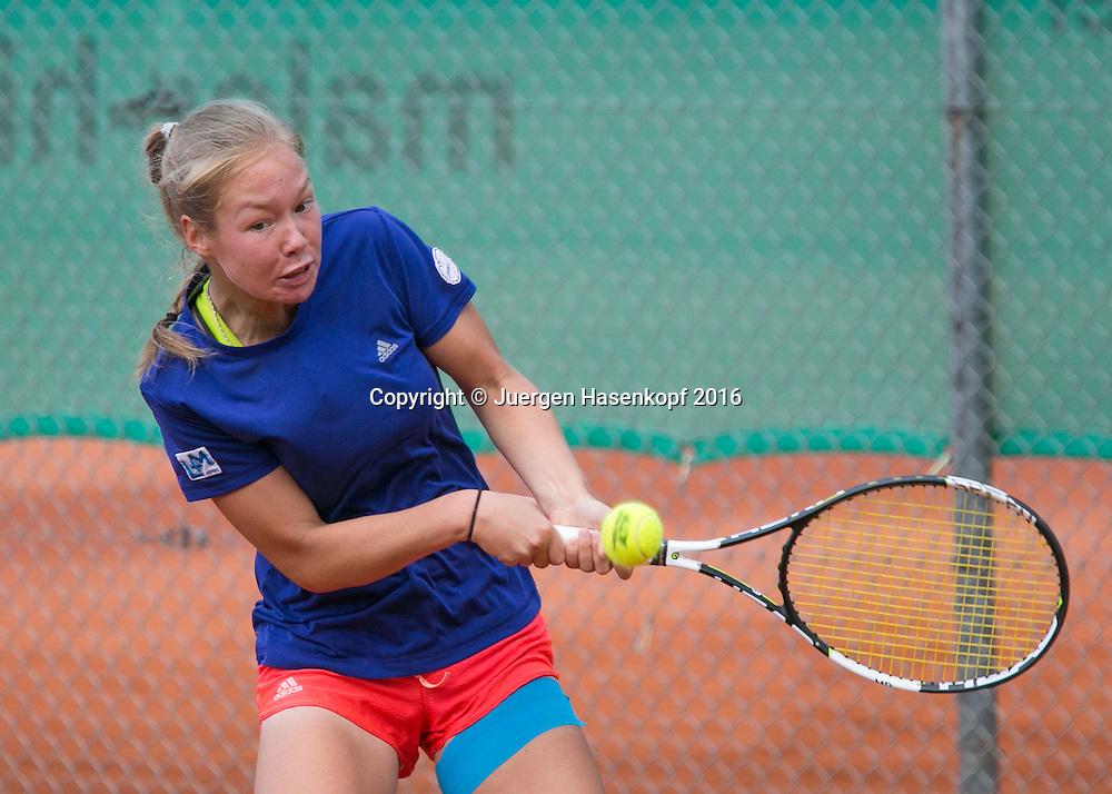 Tennis Europe-Bavarian Junior Open, Nina Eckart (GER) GS16<br /> <br /> Tennis - Bavarian Junior Open 2016 - Tennis Europe Junior Tour -  SC Eching - Eching - Bayern - Germany  - 11 August 2016. <br /> &copy; Juergen Hasenkopf