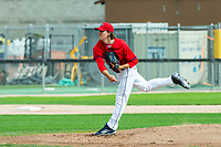 KELOWNA, BC - JULY 06: Garner Spoljaric #36 of the Kelowna Falcons throws a pitch against the Walla Walla Sweets at Elks Stadium on July 6, 2019 in Kelowna, Canada. (Photo by Marissa Baecker/Shoot the Breeze)