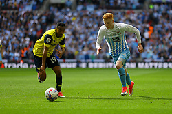 Ryan Haynes of Coventry City chases the ball under pressure by Rob Hall of Oxford United - Photo mandatory by-line: Jason Brown/JMP -  02/04//2017 - SPORT - Football - London - Wembley Stadium - Coventry City v Oxford United - Checkatrade Trophy Final