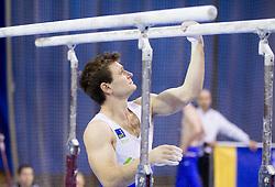 Mitja Petkovsek of Slovenia competes during Qualifications day of Artistic Gymnastics World Cup Ljubljana, on April 26, 2013, in Hala Tivoli, Ljubljana, Slovenia. (Photo By Vid Ponikvar / Sportida.com)