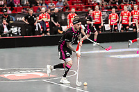 2019-04-27 |Stockholm | IBF Falun (7) Rasmus Enström during the game between Storvreta IBK and IBF Falun at Ericsson Globe Arena. (Photo by Daniel Carlstedt | Swe Press Photo).