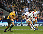 Twickenham, GREAT BRITAIN, Danny CIPRIANI,  attacking, with the ball during the Investic Challenge, England vs Australia, Autumn International at Twickenham Stadium, Surrey on Sat 15.11.2008 [Photo, Peter Spurrier/Intersport-images]